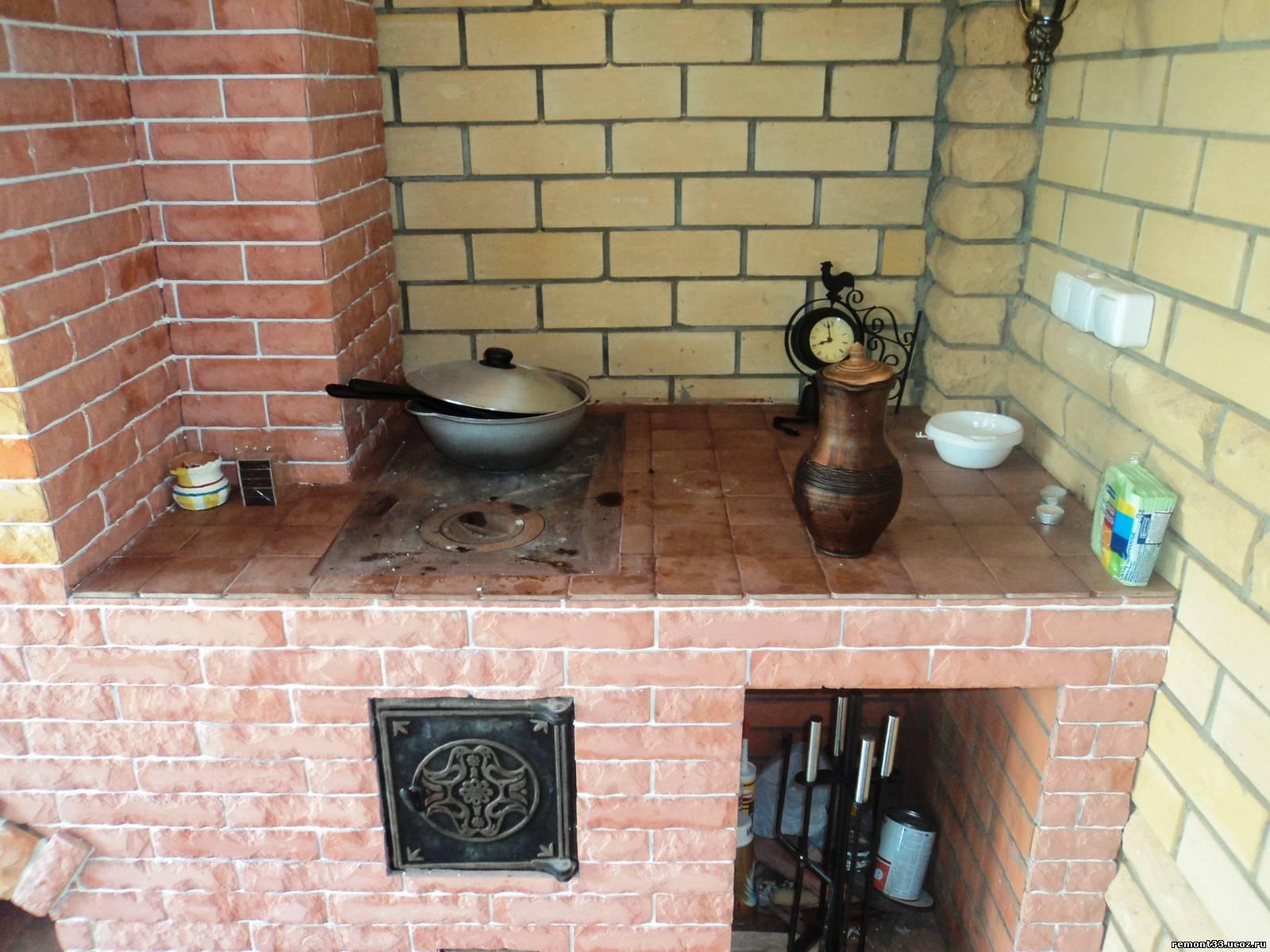 Уличная варочная печь из кирпича своими руками 10